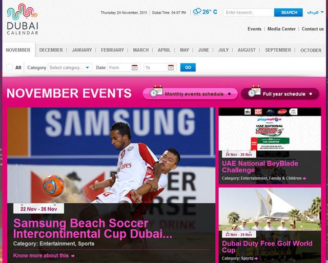 Dubai lance un agenda en ligne