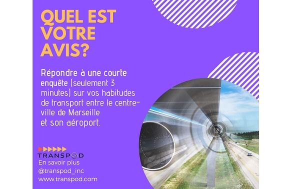 Hyperloop :Transpod avance sur la création d'une ligne vers l'aéroport de Marseille - Crédit photo : Transpod