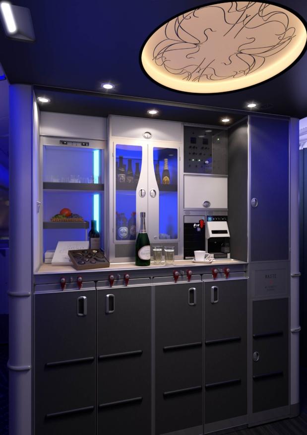 Le bar belge, en self-service © Brussels Airlines