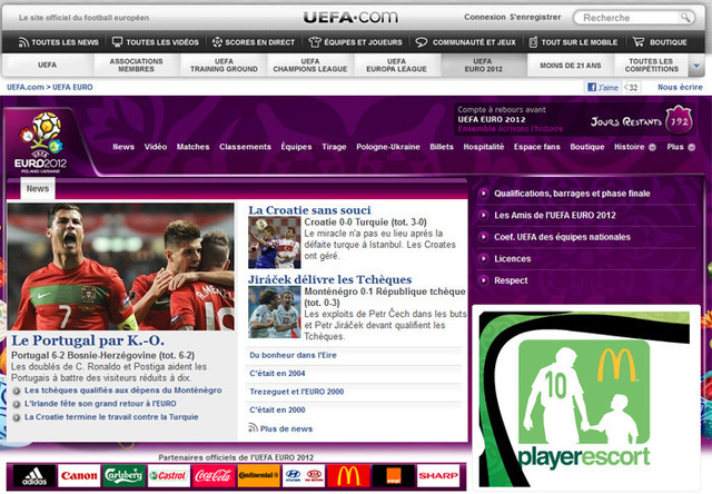 Le site de l'UEFA Euro 2012 - Photo DR