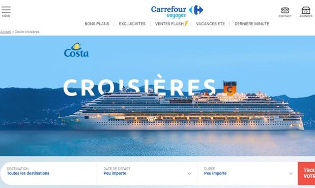 Les clients achètent une carte au prix de 15 ou 20 euros qui est ensuite abondée par Carrefour Voyages ou ses partenaires : TUI, Costa Croisières et Belambra - DR