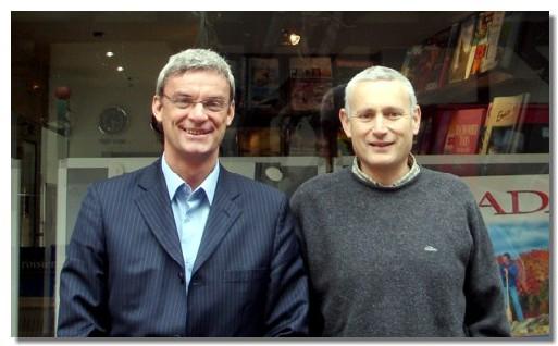 Joost Bourlon, PDG de Plein Vent et Claude Hochner, patron de Tourivac