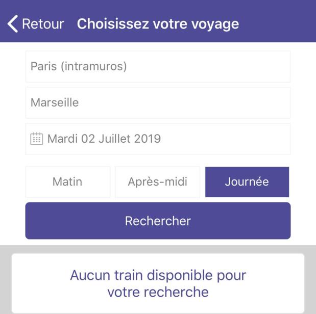 La pénurie de TGV pour les abonnés n'est pas une légende urbaine... dès mardi 2 juillet plus aucune place disponible pendant toute la semaine...