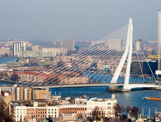 Doués pour l'architecture et le design contemporains, les Néerlandais ont fait de Rotterdam l'une de leurs principales vitrines urbaines.   En flânant en ville, vous apprécierez l'audacieux pont Erasmus - DR : DepositPhotos, Foto-VDW