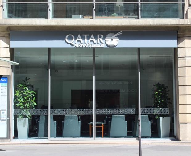 L'agence Qatar Airways installée  au 64, rue La Boétie à Paris - DR