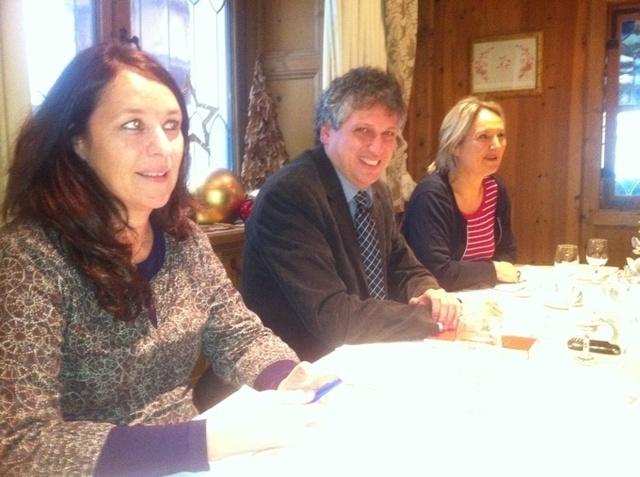 Pascale Gaston, Helmut Gschwentner et Martine Grasser, dans un petit salon de l'hôtel Schwarzbrunn, le berceau familiale de Travel Europe - Photo DR