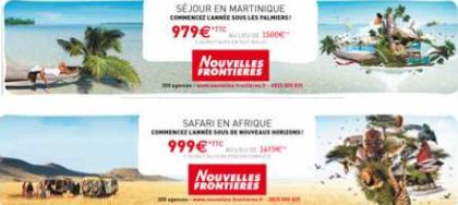 Nouvelles Frontières s'affiche sur 2 600 bus en Ile de France jusqu'au 13 décembre 2011 - DR