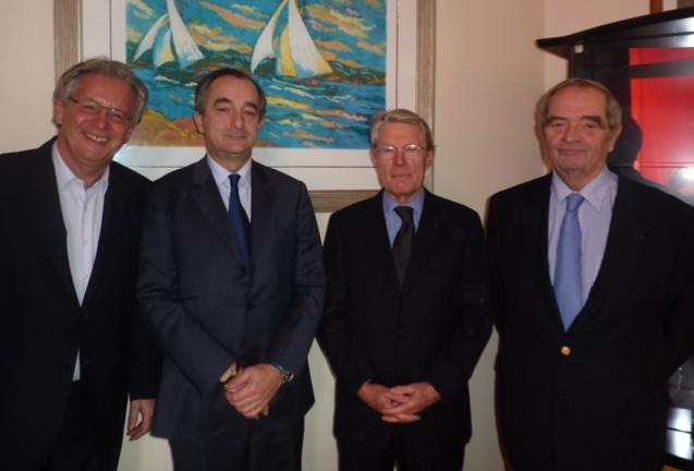 R.-M. Chikli (CETO), Lionel Guérin (FNAM), Jean-Pierre Teyssier et G. Colson (SNAV)