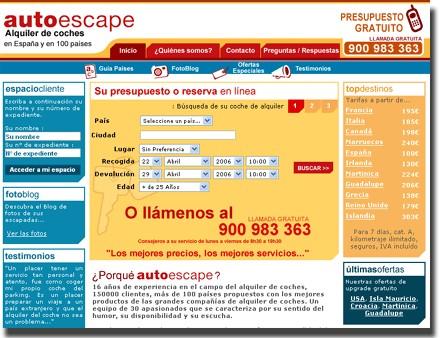 Auto Escape s'implante en Espagne