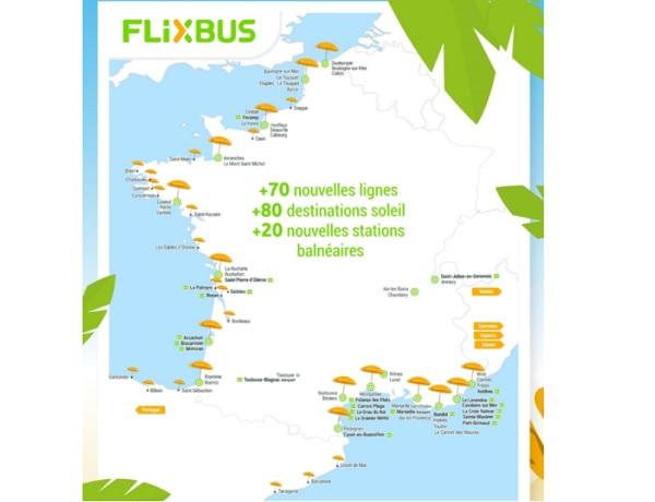 Eté 2019 : Flixbus ajoute 80 nouvelles destinations - Crédit photo : Flixbus