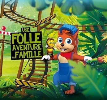 Un nouveau personnage fait son apparition : un écureuil qui a inventé ce nouveau moyen de transport pour aller de forêt en forêt et qui s'appelle : Noisette Express. - DR