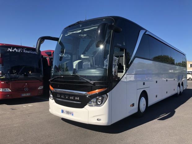 Mi-juin, le groupe annonçait son intention d'acquérir 3 autocars SETRA 517 HDH dans le courant de l'été, pour proposer une offre premium - DR : NAP Tourisme