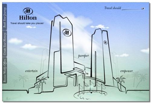 Hilton : des bornes pour imprimer les cartes d'embarquement