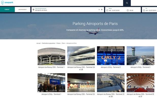 Onepark, le booking du parking, ajoute les aéroports parisiens à son catalogue - Crédit photo : Onepark