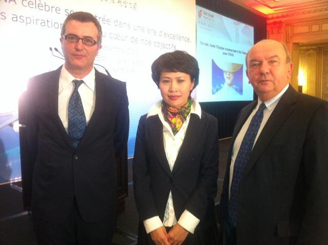 Alain Ettedgui, Yuqi Tian et Robert Darfeuille - Photo BF