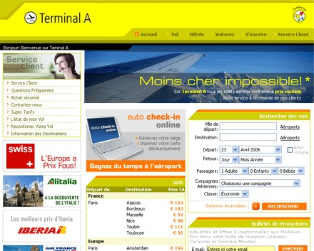 Agence en ligne : Terminal A prend son envol en France