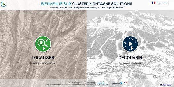 Cluster Montagne : création d'un site pour cartographier l'innovation - Crédit photo : capture écran Cluster Montagne Solutions