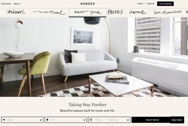 Sonder est un concurrent d'Airbnb qui se développe sur un autre concept - DR