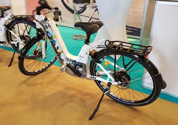 Le vélo à assistance électrique alimenté par une pile à combustible développé par Pragma industries - DR