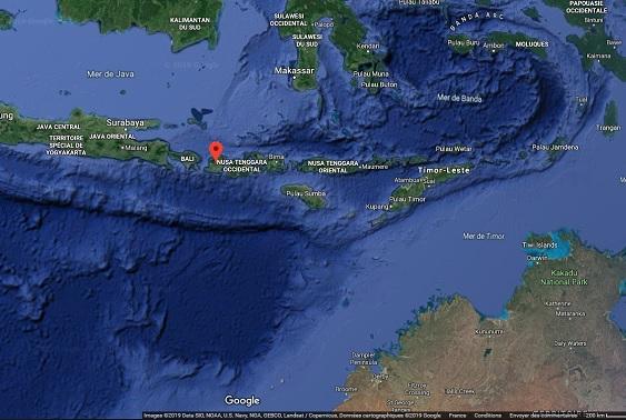 Tempête tropicale : des vagues de plusieurs mètres attendues en Indonésie - Crédit photo : Google Maps