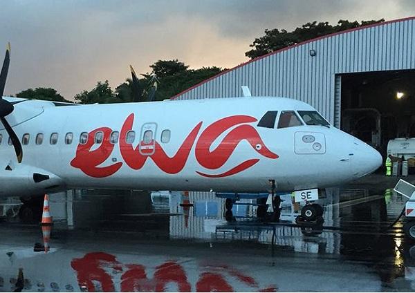 Sur les 12 derniers mois, Ewa Air aura transporté plus de 60 000 passagers, affichant ainsi une progression de son trafic passagers. - DR