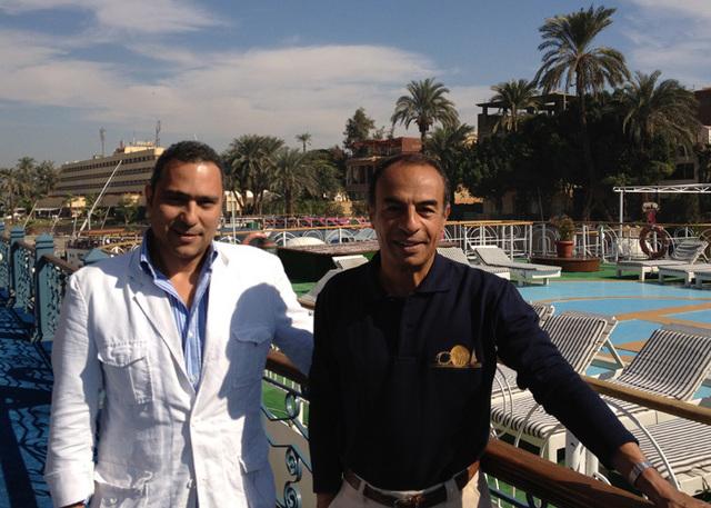 O Nil, TO et réceptif en Egypte : Cherif El Shalakani dirige l'entreprise avec son associé Georges Baligh. - Photo DR GB