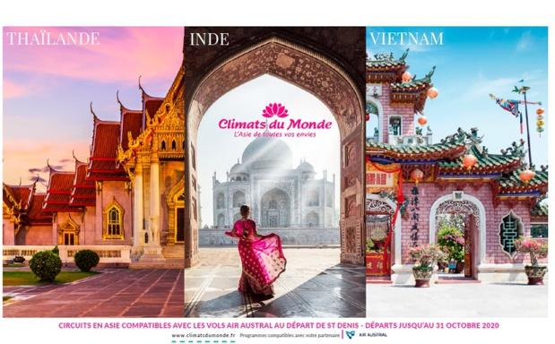 Climats du Monde dédie une brochure aux agences de La Réunion