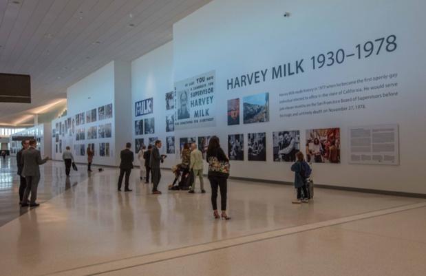 Point de mire du nouveau terminal, l'exposition Harvey Milk: Messenger of Hope rend hommage au leader des droits civiques et à son impact sur les droits de la communauté LGBTQ+ - DR