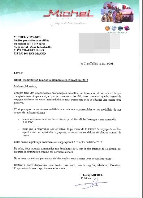 """Michel Voyages divise par 2 les commissions et exige le paiement au """"cul du car"""" !"""