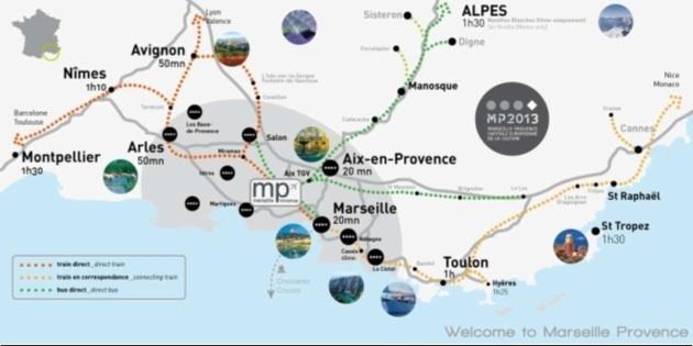 FlyProvence cherche à mettre en avant des packages réceptifs sur le territoire Marseille Provence en 2012 et 2013 - DR