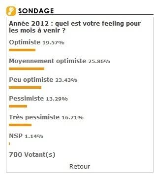 """2012 : les professionnels sondés par TourMaG.com ne font pas (trop) dans la """"sinistrose""""..."""