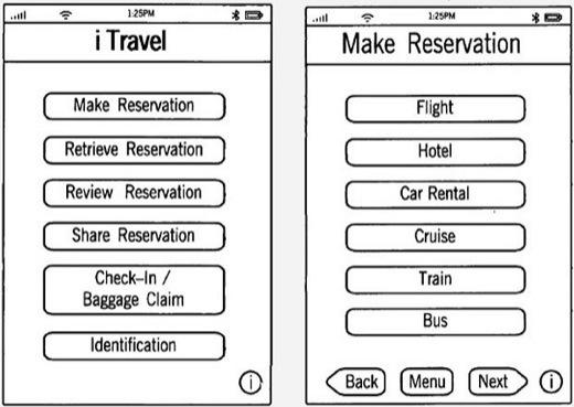 iTravel, un équivalent d'iTunes dédié à l'univers du voyage, permettra de réserver une prestation touristique depuis son iPhone ou son iPad : vol, hôtel, voiture, train ou même une croisière, et de s'enregistrer à l'aéroport.