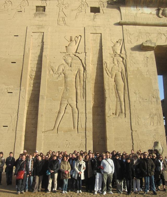 Les agents de voyage ont pu découvrir toutes les merveilles des bords du Nil, comme le temple d'Horus à Edfou - DR : L-A.C