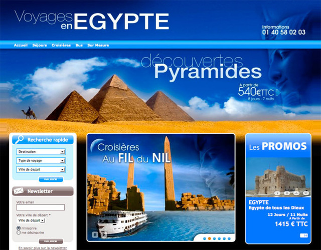 L'outil propose une soixantaine d'habillages thématiques, certains sur des destinations, comme l'Égypte ou l'Argentine - DR : Stock2com