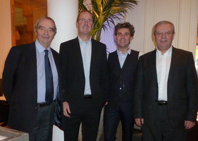 Georges Colson, Olivier de Nicola, Serge Laurens Directeur Marketing et Georges Vialard Directeur Production - Photo MS