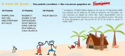 Challenge de ventes Fram : ''les cocotiers gagnants !''