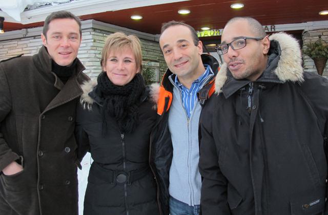De gauche à droite : Alexandre Sebrie, attaché commercial Grand Ouest de Premium Travel, Nathalie Fumel, responsable production, Bruno Berrebi, PDG, et Ché-Guevara Tiwa, pour la production Asie - DR : A.B.