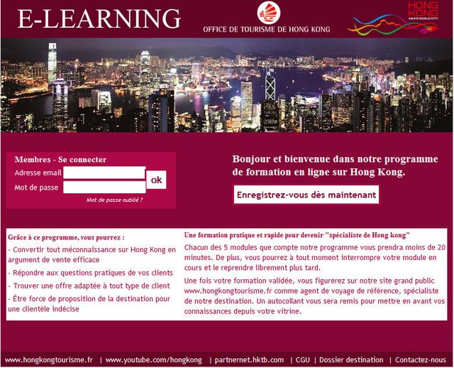 L'elearning Hong Kong pour les agences de voyages. - Photo DR