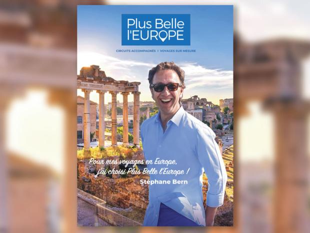 Stéphane Bern sur la brochure 2020... - DR Plus Belle l'Europe