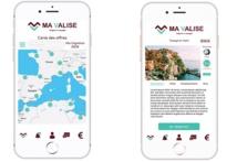 "Visuels de l'application ""Ma Valise"" qui sortira en novembre 2019 - Crédit photo : Ma Valise"