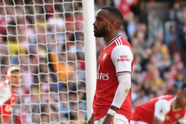 """""""Visit Rwanda"""" est affiché sur les maillots des Gunners d'Arsenal depuis 1 an, comme ici sur Alexandre Lacazette, l'attaquant français du club londonien ©Arsenal Instagram"""