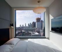L'immeuble présente 9 étages de chambres - Crédit photo : citizenM