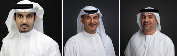 Sheikh Majid Al Mualla, Adnan Kazim et Adnan Kazim changent de fonction chez Emirates - Crédit photo : Emirates