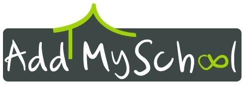 Voici le logo du Challenge ''AddMySchool'', dû au talent de Mélanie Philibin, notre graphiste