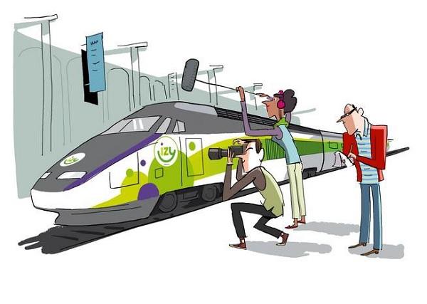 La marque low cost de Thalys, propose désormais 50 places au prix fixe de 10 € - Crédit photo : Izy