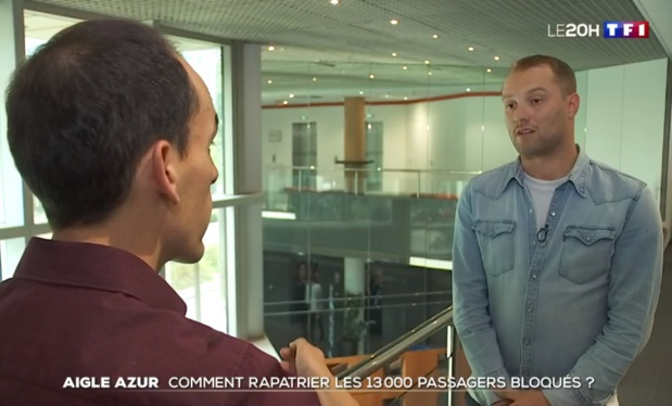 Arrêt d'Aigle Azur : notre journaliste Pierre Georges intervient au JT de TF1