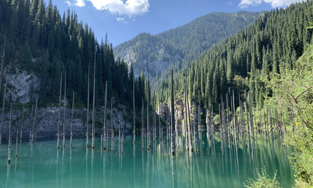 Lac Kaindy, à proximité d'Almaty, Kazakhstan