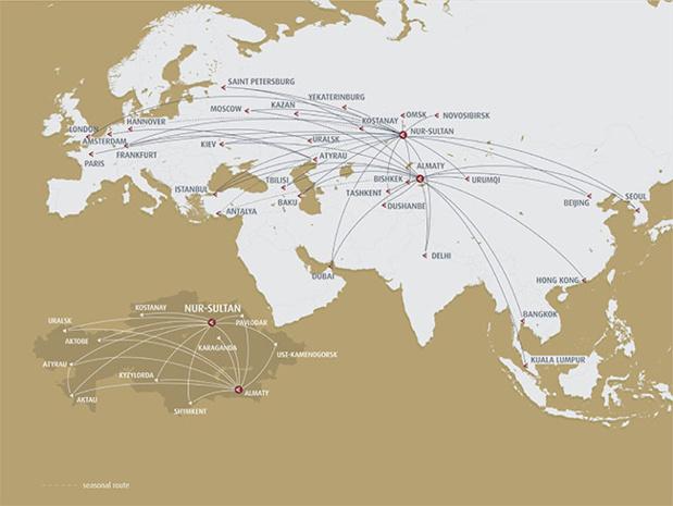Réseau Air Astana