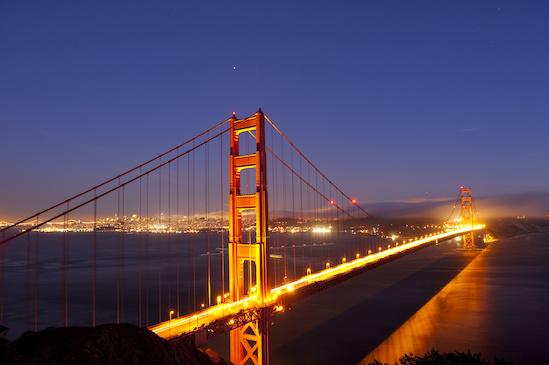 Le Golden Gate Bridge à San Francisco - Photo Visit California/Hub