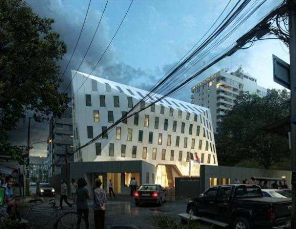Le nouveau bâtiment conservera une partie de l'ancien édifice - Photo DR